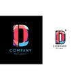 d blue red letter alphabet logo icon design vector image