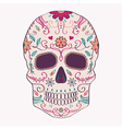 Day of the Dead skull with ornament vector image vector image