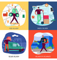 delivery service concept icons set vector image vector image
