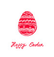 easter holidays design template for festive card vector image vector image