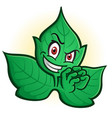 evil poison ivy villain cartoon character vector image vector image