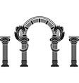 fantasy arch and columns vector image