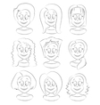 Fashion female avatars Hairstyles vector image
