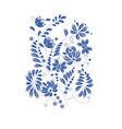 floral hand drawn pattern vector image vector image
