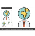 Globalization line icon vector image vector image