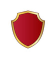 gold and red shield shape icon logo emblem vector image vector image
