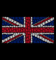 great britain flag mosaic of bitcoin icons vector image vector image