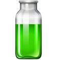 Green liquid in glass bottle vector image vector image