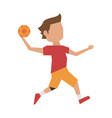 handball player cartoon vector image vector image