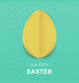 happy easter egg paper cut background for easter vector image vector image