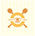 honey and bee isolated colored emblem vector image