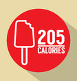 Ice Cream Stick 205 Calories Symbol vector image vector image