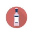 icon of alcohol bottle with alcoholic vector image vector image