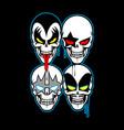 kiss skull vector image