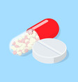 medical pill and tablet vector image vector image