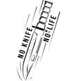 military knife bayonet vector image vector image