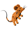 mouse is a steampunk robot on a white isolated vector image vector image