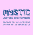 mystic letters and numbers with currency symbols vector image vector image