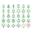 ornamental tree line icon vector image vector image
