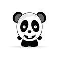 panda sweet and cute vector image