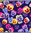 pansies pattern vector image vector image