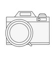 photographic camera vintage vector image vector image