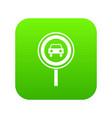 prohibiting traffic sign icon digital green vector image