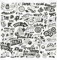 psychology - doodles set vector image vector image