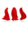 red hero cape vector image vector image
