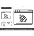 RSS line icon vector image vector image