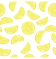 Seamless sliced lemon pattern vector image vector image