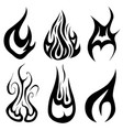 set of different flames vector image