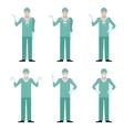 set surgeons vector image