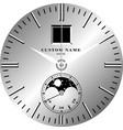 smart watch face a vector image vector image