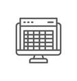 spreadsheet computer screen financial accounting vector image