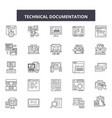 technical documentation line icons signs vector image vector image