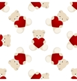 Teddy Bear Valentines Day Card vector image vector image