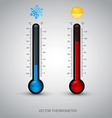 thermometer icon 2 vector image