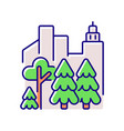 urban forest rgb color icon vector image vector image