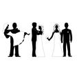 wedding silhouette set vector image vector image