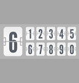 white flip mechanical score board numbers vector image vector image