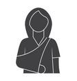 woman with broken arm vector image