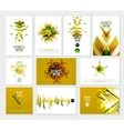 Business Abstract Golden Template vector image