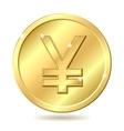 golden coin yen vector image