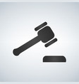 judge or auction hummer flat style icon vector image