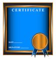 New business certificate vector image