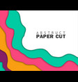 abstract colorful flyer templatemodern banner vector image vector image