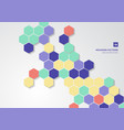 abstract colorful hexagons shape minimal pattern vector image
