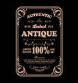 antique frame vintage badge label typography vector image vector image