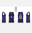 basketball uniform template design for basketball vector image